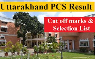 Uttarakhand PCS Result 2019 : UK PCS 2016 Final Result, Cut off marks & Candidate marks